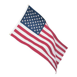The Renovators Supply - Flags Red/White/Blue Cotton 3 x 5 Flag | 20310 - 3' x 5' cotton flag, for indoor use. Perfect for covered porches
