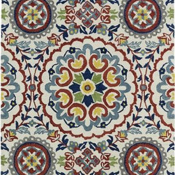"Kaleen - Kaleen Global Inspirations GLB08 2'6"" x 8' Ivory Rug - This Hand Tufted area rug would make a great addition to any room in the house. The plush feel and durability of this area rug will make it a must for your home."