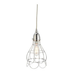 Silver Wire Rose Pendant Light
