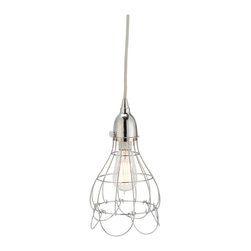Lazy Susan - Lazy Susan 225041 Silver Wire Rose Pendant Light - You can't resist the classic charm of this delicate iron-wire design. Conjuring petals drooping from a bulb, this pendant melds exquisite design with dependable lighting. With a hand-applied finish and sturdy construction, this pendant strikes a perfect balance between enviable aesthetic and genteel practicality.