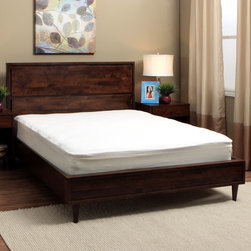 Spring Air - Spring Air Bed Armor Waterproof Stain-resistant Mattress Pad - Protect your mattress from stains or spills with this waterproof Bed Armor Mattress Pad by Spring Air. Crafted with terry cloth,this deep pocket pad features stain-proof protection and is dust-mite resistant.