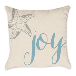 Coastal Pillow Cover - Cotton Duck Natural Throw Pillow Cover Starfish, 18x18 - Check out our Christmas pillow line!  We love the holidays and have been working as hard as Santa's elves designing pillows!
