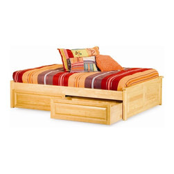 Atlantic Furniture - Atlantic Furniture Concord Raised Panel Daybed in Natural Maple - Atlantic Furniture - Daybeds - AP8125005 - The Concord is a contemporary daybed with a clean design andample selection of colors. The Concord can coordinate and adapt to anybedroom or any Atlantic Furniture case goods. Set it up as a daybed oras a more traditional platform bed.Add under bed drawers for additional storage or a trundle for extracompany. Perfected with Atlantic Furniture's high build Five Step Finishing Process onEco-friendly hardwood the Concord Daybed is an ideal addition to anybedroom.Features:
