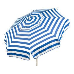 DestinationGear - Italian 6 ft Umbrella Acrylic Stripes - Blue and White - Taking in the sun on the Amalfi coast is to some a dream come true.  In the case of the DestinationGear Italian Bistro style umbrellas, you'll feel like you are in Italy when you open up this 6 foot diameter shade provider.  Stylish, high-quality and designed for the patio, beach or camping outing.