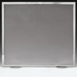 "Inviting Home - Stainless Steel Fireplace Screen - Stainless steel fireplace screen with steel mesh. This fireplace screen is hand-cast in Italy; 36""W x 32""H more details - Stainless Steel Fireplace Screen >> see more Fireplace Screens >> see more Fireplace Accessories >>"