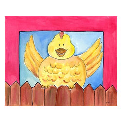 Oh How Cute Kids by Serena Bowman - Henny Penny, Ready To Hang Canvas Kid's Wall Decor, 20 X 24 - Every kid is unique and special in their own way so why shouldn't their wall decor be so as well! With our extensive selection of canvas wall art for kids, from princesses to spaceships and cowboys to travel girls, we'll help you find that perfect piece for your special one.  Or fill the entire room with our imaginative art, every canvas is part of a coordinating series, an easy way to provide a complete and unified look for any room.