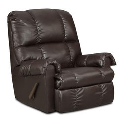 Chelsea Home Furniture - Chelsea Home Grace Handle Rocker Recliner in Apache Chocolate - Grace Handle rocker recliner in Apache Chocolate belongs to the Chelsea Home Furniture collection