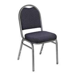 National Public Seating - 9260 Dome Fabric Padded Stack Chair - Set of - Set of 2. Products meet or exceed applicable ANSI/BIFMA standards. Features 0.88 in. square-tube. Plywood core. 18-gauge steel frame with 0.63 in. under seat and h-braces. Steel standard: ASTM A513. Foam standard: 1.8 lb. density, 46 ILD. 2 in. thick grade a foam. Double stitched cushion with spacious waterfall seat. Institutional grade fabrics rated to 30,000 double rubs or thick .80mm. Fabric and foam are Cal-117 rated. Back has convenient handhold for easier moving and stacking. Stacking bars and 12 plastic stack bumpers ensure stacking securely without damaging the attractive powder-coated frame finish. Stack 8-10 high with DY81 or DY9000 dollies. Cushion: 16 in. W x 16 in. D x 34 in. H. Seat: 16 in. W x 16 in. D x 19 in. H. Overall:  21 in. W x 18 in. D x 34 in. H (15 lbs.)