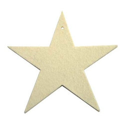 The Felt Store - Designer Felt Star - 4 Pack - The Felt Store presents the decorative star. This handy decorative item is the perfect craft accessory, home decor item or tree ornament and is made of a high quality felt. Whether you choose our single star which is 4.75 inches (120.7mm) wide and 0.13 inches thick or our circle star cut out which has a diameter of 6.75 inches (171.1mm) and is 0.13 inches thick, the decorative star is great for any time of the year and is machine washable.