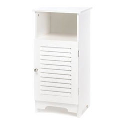 Gifts Galore And More - Nantucket Bathroom Space Saver - Big on storage yet surprisingly sleek, this shelf and cabinet combination tucks anywhere for instant organization.  A winning style addition for any room in your home!  Some assembly required.  Contents not included.