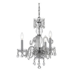 Crystorama - Crystorama 5044-CH-CL-MWP Chandelier - Traditional crystal chandeliers are classic, timeless, and elegant. Crystorama's opulent glass arm chandeliers are nothing short of spectacular. This collection is offered in a variety of crystal grades to fit any budget.