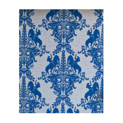 Ye Ha! - Giddy up, cowboy!  There's oil in them there hills! This elegant damask pattern seems classic until you look at the details, this ain't no ordinary wallcovering.