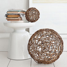 Contemporary Sculptures Wicker Core Spheres
