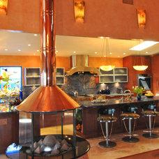 Tropical Kitchen by Barbara Krai Interior Design