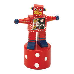 """The Original Toy Company - The Original Toy Company Kids Children Play Robot Thumb Puppet - Our """"Exclusive"""" beautifully painted. Wooden thumb puppets provide a vast. Number of amusing actions and hours of Memorable play value for one and all. Average height- 4.5"""". Ages 3 plus years to Adult"""