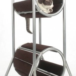 Tall Modern Cat Condo - Perhaps you'll choose this stylish cat condo to complement a barcelona chair or an Eileen Grey side table.
