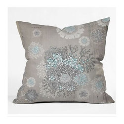 "DENY Designs - Iveta Abolina French Blue Throw Pillow - Wanna transform a serious room into a fun, inviting space? Looking to complete a room full of solids with a unique print? Need to add a pop of color to your dull, lackluster space? Accomplish all of the above with one simple, yet powerful home accessory we like to call the DENY Throw Pillow! Features: -Iveta Abolina collection. -Material: Woven polyester. -Sealed closure. -Spot treatment with mild detergent. -Made in the USA. -Closure: Concealed zipper with bun insert. -Top and back color: Print. -Small dimensions: 16"" H x 16"" W x 4"" D, 3 lbs. -Medium dimensions: 18"" H x 18"" W x 5"" D, 3 lbs. -Large dimensions: 20"" H x 20 W x 6"" D, 3 lbs."