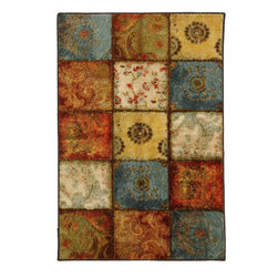 """Mohawk - Contemporary Artifact Panel 2'6""""x3'10"""" Rectangle Multi Color Area Rug - The Artifact Panel area rug Collection offers an affordable assortment of Contemporary stylings. Artifact Panel features a blend of natural Multi Color color. Machine Made of Nylon the Artifact Panel Collection is an intriguing compliment to any decor."""