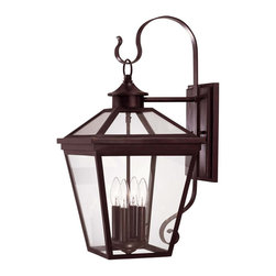 Savoy House - Ellijay Wall Mount Lantern - An Eye-Catching Four-Sided, clear glass top collection, perfect for the cottage looks of today. Finished in English Bronze with clear glass on the hood and an open bottom, Ellijay is an outstanding family providing high style at an unbelievable price.