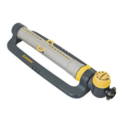 Melnor - Turbo Oscillating Sprinkler - Turbo Oscillating Sprinkler Deluxe with Timer Waters up to 3900 Sq. Ft.