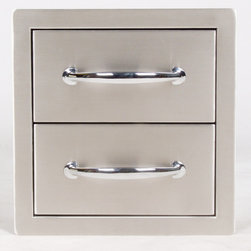 """Sunstone Grills - 14"""" FLUSH DOUBLE ACCESS DRAWERS - Quick Overview"""