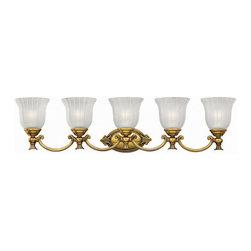 Hinkley Lighting - Hinkley Lighting 5585BB Francoise Burnished Brass 5 Light Vanity - Hinkley Lighting 5585BB Francoise Burnished Brass 5 Light Vanity