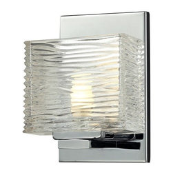 Z-Lite - Z-Lite 3025-1V Jaol 1 Light ADA Compliant Bathroom Sconce with Clear Glass Shade - Features:
