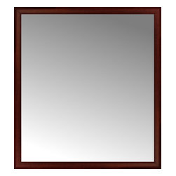 """Posters 2 Prints, LLC - 50"""" x 55"""" Ansley Mahogany Custom Framed Mirror - 50"""" x 55"""" Custom Framed Mirror made by Posters 2 Prints. Standard glass with unrivaled selection of crafted mirror frames.  Protected with category II safety backing to keep glass fragments together should the mirror be accidentally broken.  Safe arrival guaranteed.  Made in the United States of America"""