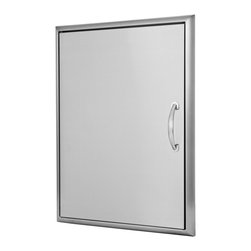 Blaze Outdoor Products - Blaze Stainless Steel 21-inch Single Access Door - The Blaze 21-inch vertical access door features an ideal access size for an island and an outdoor kitchen. Blaze's commercial grade 304 Stainless Steel construction is made for withstanding outdoor elements.