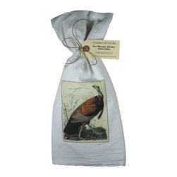 Golden Hill Studio - Wild Turkey Flour Sack Towel - This lovely Flour Sack Towel is adorned with an antique Wile Turkey print.  Printed and Assembled in the USA!