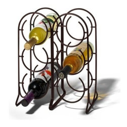 Spectrum Horseshoe 6 Bottle Wine Rack - Venetian Bronze - The Spectrum Horseshoe 6 Bottle Wine Rack has metal construction with Venitian Bronze finish for a golden tone. This wine rack holds up to 6 wine bottles in vertical formation. Decorative with double arched top its stylish and eye-catching. You can place this wine rack on the floor or your countertop. Dimensions: 11.5L x 6.75W x 14.75H inches. About Spectrum Diversified DesignsSpectrum Diversified Designs based out of Cleveland Ohio operates out of a 130 000 square foot distribution center and provides services to nearly every continent on the globe. With a specialized team of experts in art design and logistics Spectrum consistently provides top-quality products that are functional attractive and cost-effective. Spectrum is dedicated to providing you with only the best in home accessories. From the kitchen to the bath and all in between you'll find exactly what you need for all of your home needs. The possibilities are endless.