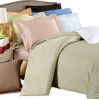 Bed Linens - Egyptian Cotton 650 Thread Count Solid Duvet Cover Sets Full/Queen Gold - 650 Thread Count Solid Duvet Cover Sets