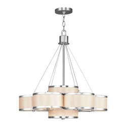 Livex - Livex 6346-91 Park Ridge Chandelier In Brushed Nickel - Livex 6346-91 Park Ridge Chandelier In Brushed Nickel