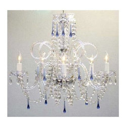 Gallery - Gallery T40-117 5 Light 1 Tier Crystal Candle Style Chandelier - Features: