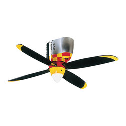 Craftsman - Mustang Ceiling Fan - Aviation Decor:
