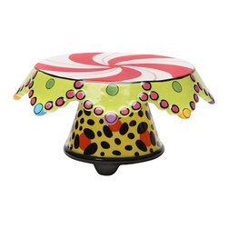 "ATD - 8"" Small Leopard and Candy Design Cake Stand with Chip and Dip Set - This gorgeous 8"" Small Leopard and Candy Design Cake Stand with Chip and Dip Set has the finest details and highest quality you will find anywhere! 8"" Small Leopard and Candy Design Cake Stand with Chip and Dip Set is truly remarkable."