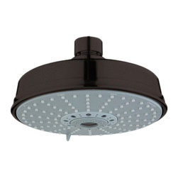 Grohe - Grohe 27130ZB0 Shower Head In Oil Rubbed Bronze - Grohe 27130ZB0 from the Rainshower Heads and Accessories add a new level of performance to your shower. The Grohe 27130ZB0 is a Shower Head With an Oil Rubbed Bronze Finish for an authentic or rustic appearance.