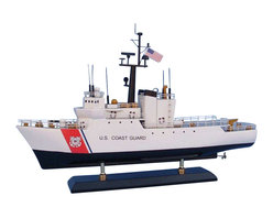 """Handcrafted Model Ships - USCG Medium Endurance Cutter 18"""" - Wooden Coast Guard Model Boat - Sold fully assembled. Ready for Immediate Display - Not a model ship kit.. . Honoring the hard work and dedication of the United States Coast Guard, the USCG Medium Endurance Cutter model is a well-crafted replica of the real boats used by the US Coast Guard. 18"""" Long x 6"""" Wide x 17"""" High"""