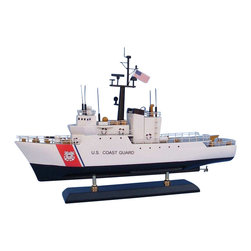 "Handcrafted Model Ships - USCG Medium Endurance Cutter 18"" - Wooden Coast Guard Model Boat - Sold fully assembled. Ready for Immediate Display - Not a model ship kit.. . Honoring the hard work and dedication of the United States Coast Guard, the USCG Medium Endurance Cutter model is a well-crafted replica of the real boats used by the US Coast Guard. 18"" Long x 6"" Wide x 17"" High"
