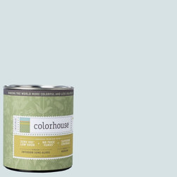 Inspired Semi-Gloss Interior Paint, Air .06, Quart - Colorhouse paints are zero VOC, low-odor, Green Wise Gold certified and have superior coverage and durability. Our artist-crafted colors are designed to be easy backdrops for living. Colorhouse paints are 100% acrylic with no VOCs (volatile organic compounds), no toxic fumes/HAPs-free, no reproductive toxins, and no chemical solvents.