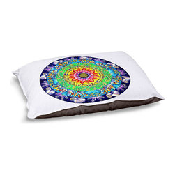 """DiaNoche Designs - Dog Pet Bed Fleece - Samsara Mandala - DiaNoche Designs works with artists from around the world to bring unique, designer products to decorate all aspects of your home.  Our artistic Pet Beds will be the talk of every guest to visit your home!  BARK! BARK! BARK!  MEOW...  Meow...  Reallly means, """"Hey everybody!  Look at my cool bed!""""  Our Pet Beds are topped with a snuggly fuzzy coral fleece and a durable underside material.  Machine Wash upon arrival for maximum softness.  MADE IN THE USA."""