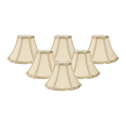 """Royal Designs, Inc"" - Decorative Trim True Bell Chandelier Lampshade - ""This shade is a part of Royal Designs, Inc. Timeless Chandelier Shade Collection and is perfect for anyone who is looking for a simple yet stunning lampshade. Royal Designs has been in the lampshade business since 1993 with their multiple shade lines that exemplify handcrafted quality and value."