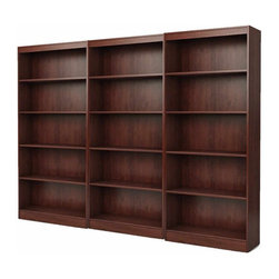 South Shore - South Shore Office 5 Shelf Wall Bookcase in Royal Cherry - South Shore - Bookcases - 7246768CPKG - South Shore 5 Shelf Bookcase in Royal Cherry