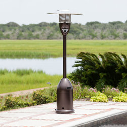 Fire Sense 47,000-BTU Hammer Tone Bronze Steel Liquid Propane Patio Heater - Nobody wants to shiver through after-dinner conversation, and cool nights can accompany even the warmest days. I would love to get a patio heater to make the most of my (short!) patio season.