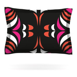 """Kess InHouse - Miranda Mol """"Magenta Orange Hawaiian Retro"""" Pillow Sham (Woven, 40"""" x 20"""") - Pairing your already chic duvet cover with playful pillow shams is the perfect way to tie your bedroom together. There are endless possibilities to feed your artistic palette with these imaginative pillow shams. It will looks so elegant you won't want ruin the masterpiece you have created when you go to bed. Not only are these pillow shams nice to look at they are also made from a high quality cotton blend. They are so soft that they will elevate your sleep up to level that is beyond Cloud 9. We always print our goods with the highest quality printing process in order to maintain the integrity of the art that you are adeptly displaying. This means that you won't have to worry about your art fading or your sham loosing it's freshness."""