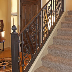 Sicilian Iron Railing by First Impression Security Doors - First Impression Security Doors creates amazing railings and staircases.