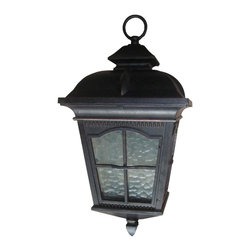 Yosemite Home Decor - 5214ORB-H Amelia 2-Light Outdoor Hanging Pendant with Water Glass Shade - Step back into the days of gas lights and brass fixtures with this antique-inspired exterior hanging pendant. Perfect for flanking a home or garage door, this home accent serves a practical need while adding a touch of class, sophistication, and history to your home. The neutral and classic design complements almost any home exterior, and individuals will find the hanging pendant a far cry from the simple bare bulbs that many homeowners rely on. Instead of harsh light and an unpleasant design, choose a hanging pendant that offers soft, attractive light and an attractive design. DesignTimeless and beautiful, this outdoor hanging pendant has the look of the polished brass lamps that were so popular around the turn of the century. Excellent metal detail and clear water glass make this outdoor hanging pendant a pleasure to behold whether the light is turned off or on. The steel and aluminum casing is designed to offer the appearance of oil rubbed bronze, so this hanging pendant is gorgeously colored and perfectly suited to complement the exterior of any home. Detailed but neutral, the design is also easy to match to other lamps and exterior art or accents.DurabilityLike all Yosemite Home Decor items, this product is built to last. Crafted from steel, aluminum, and glass, the outdoor hanging pendant can easily stand up to the trials of bad weather. It comes with all necessary hardware for an easy installation and is built to make a strong connection with your exterior wall. Strategically placed metal frame means that the glass will not easily be broken.LightingThe outdoor hanging pendant provides sufficient light for most outdoor functions. It is especially useful as a porch or patio light. The exterior home light must be fitted with 60 watt bulbs and has a voltage of 110.