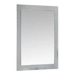 Decor Wonderland Mirrors - Decor Wonderland Frameless Disco Wall Mirror - The disco inferno mirror is a great addition to any home. This frameless wall mirror is perfect for a sleek bathroom, retro den or modern living room. This frameless wall mirror has metal encased in glass border with beveled inside polished outside. Free Shipping!