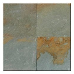 """Aqua Rustic Slate Solid Polished Floor Tiles 12"""" x 12"""" - Lot of 300 TIles - Aqua Rustic Slate Cleft Finished 12"""" x 12"""" Floor or Wall tiles. Cleft is the rough un-even finish on the tile. Chair Rail, Pencil Moldings."""