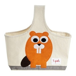 3 Sprouts - Beaver Caddy - The 3 Sprouts Caddy is the perfect organizational solution for any nursery. Made of cotton canvas and felt this caddy is the perfect tote for all of those nursery items from diapers to lotions you need in one single spot near your changing table.